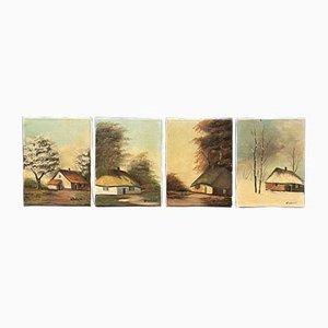 Gemälde aus verschiedenen Jahreszeiten, 2er Set