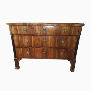 Empire Walnut Veneer Dresser, 1800s