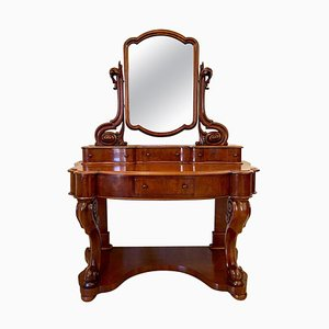 19th-Century Antique Victorian Mahogany Dressing Table
