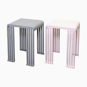 Aluminium Tootoo Stools by Helder Barbosa, Set of 2