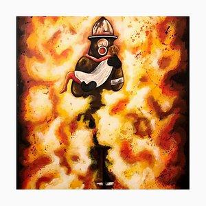 Salvatore Petrucino - Man on Fire - Painting - 2016
