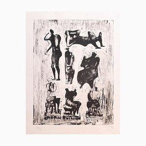 Henry Moore - Seven Sculptural Ideas - Lithograph - 1973
