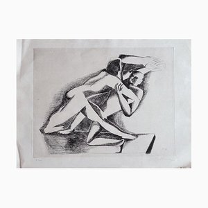 Ossip Zadkine - The Fight - Etching - 1967