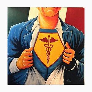 Salvatore Petrucino - Doctor Clark - Painting - 2020