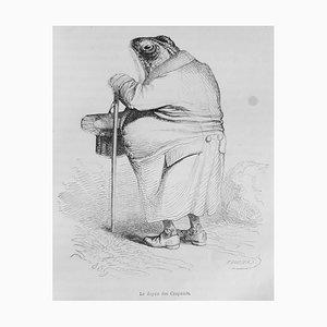 J.J. Grandville - Scenes of Life [...] - Illustrated Book Print - 1852