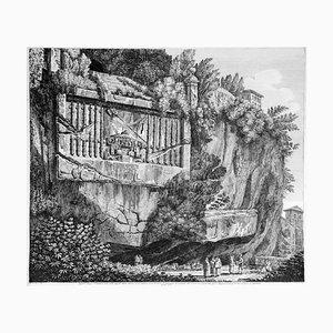 Luigi Rossini - Sepulchre Regio oder Konsulat (...) - Radierung - 1825