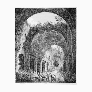 Luigi Rossini - Interior of the Ship Means ... - Etching - 1824