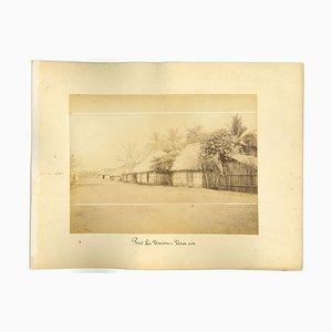 Ancient View of Puerto La Union, El Salvador - Vintage Print - 1880s
