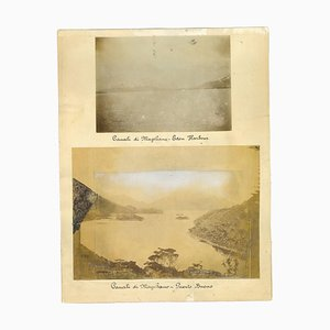 Ancient View of the Strait of Magellan - Vintage Print - 1880s