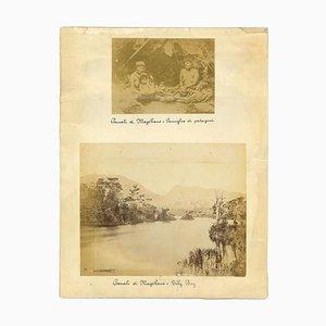 Ancient Views of the Strait of Magellan - Vintage Print - 1880s