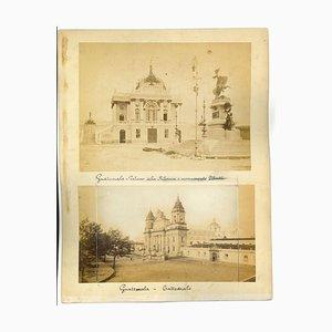 Ancient View of Guatemala City - Vintage Print - 1880s