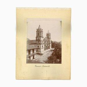 Antike Ansichten von Panama City - Vintage Druck - 1880er