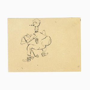 Leo Longanesi - Duck Man - Pen Drawing - 1937