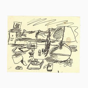 Leo Longanesi - The Bedroom - Pen Drawing - 1937