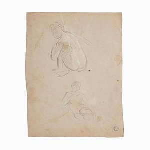 Charles Lucien Moulin - Figures of Women - Drawing - Early 20th-Century