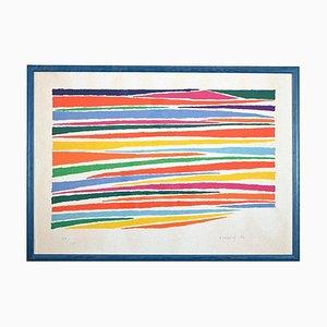 Piero Dorazio - Striped Composition - Etching - 1970s