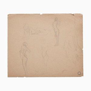 Charles Lucien Moulin - Frauenfiguren - Bleistiftzeichnung - Frühes 20. Jahrhundert