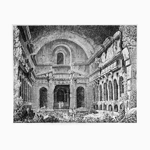 Luigi Rossini - View of an Ancient Temple ... - Etching - 1826