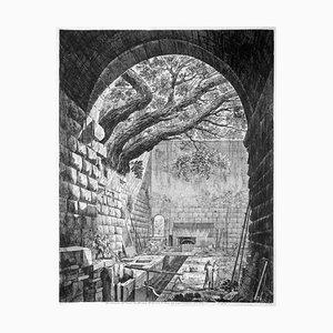 Luigi Rossini - Another View Intake Below ... - Etching - 1825