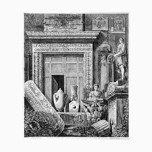 Luigi Rossini - Title Page of Antiquities Albano -Etching - 1824