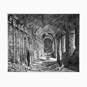 Luigi Rossini - Innenansicht der Unterbauten ... - Radierung - 1824