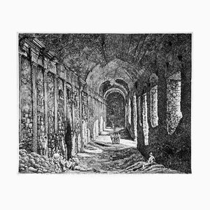 Luigi Rossini - Interior View of the Substructures ... - Etching - 1824