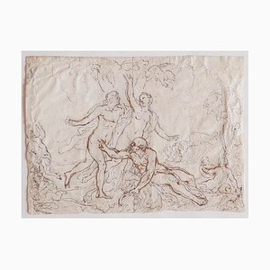 Figures - Pencil and Ink on Paper - 17th-Century