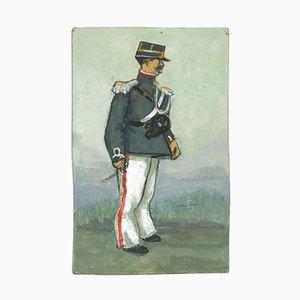 Gabriele Galantara - The Official - Tempera and Watercolor Drawing - 1910s