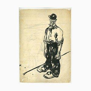 Gabriele Galantara - Farmer - Drawing - 1909