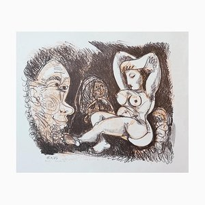 Gian Paolo Berto - Homage to Picasso - Lithograph - 1974