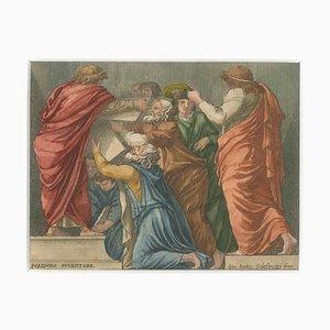 Giovanni Battista Galestruzzi - Lycurgus und Numa Pompilius geben den Römern die Gesetze - Mitte des 17. Jahrhunderts