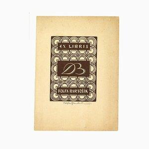 Ex Libris Dolfa Bartosik - Woodcut Print - Mid-20th-Century