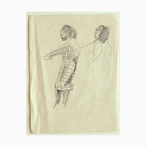 Sketch for a Costume - Drawing in Pencil on Paper - Early 20th-Century