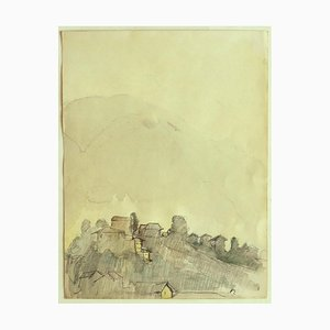 Landscape - Pencil and Watercolor on Paper - 19th Century