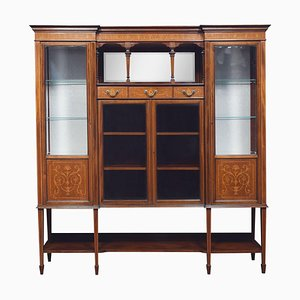 Mahogany Inlaid Display Cabinet from Maple and Co.