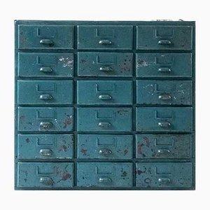 Cassettiera vintage in ferro