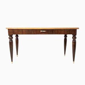 Tavolo rettangolare con gambe a cipolla