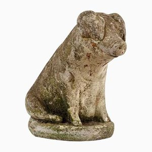 20th-Century Stone Pig Statues, Set of 2