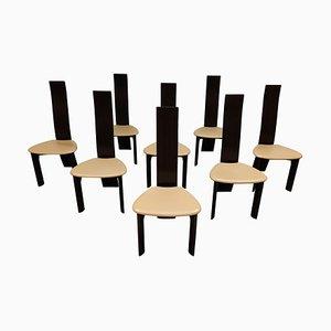 Esszimmerstühle von Rob & Dries Van Den Berghe, 1980er, 8er Set