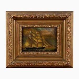 Henry King Taylor - Schiff auf See - Öl auf Kupfer