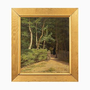 Harald Schumacher, Landscape with Forest & Nun