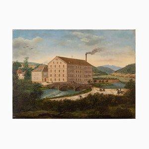 Provinzielle Landschaft aus dem 19. Jahrhundert mit Mühle