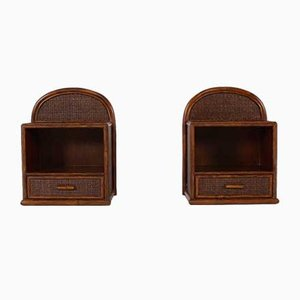 Rattan Nightstands, Set of 2
