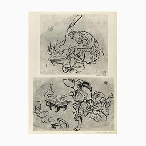 Bailarina con ventilador de Hokusai para Revue Verve