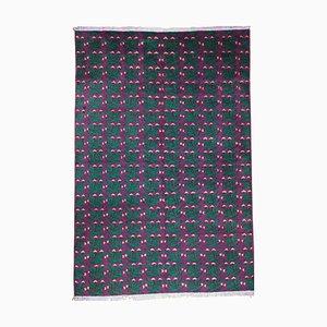 Psychedelischer Teppich in Lila & Grün des 20. Jahrhunderts von Zeki Muran, 1970er