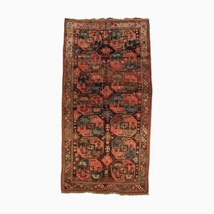 19th Century Brown, Yellow & Blue Rug, 1890s