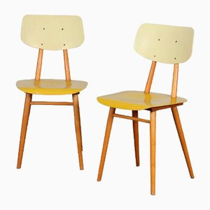 Vintage Wooden Chairs from Ton 1960s, Set of 2