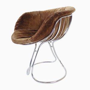 Wildleder Esszimmerstühle von Gastone Rinaldi für Rima, 1960er, 4er Set
