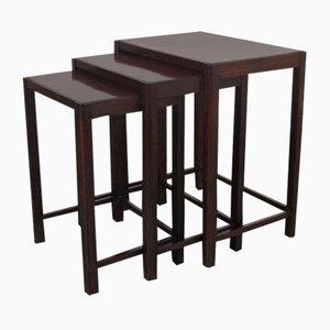 Tavolini ad incastro, set di 3