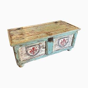 Cassettiera antica laccata in legno, Italia, XIX secolo